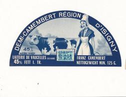 ÉTIQUETTE  DE FROMAGE -  DEMI CAMEMBERT - LAITERIE DE BAYEUX - Cheese