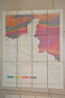 Bouillon Gedinne Mesnil Philippeville Chimay Boussu Carte Toilée Géologique 1920 - Carte Geographique