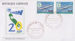 Enveloppe  FDC   1er  Jour   GABON    20éme  Anniversaire  D' AIR  GABON   1997 - Gabon