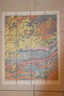 Louvain Wavre Charleroi Namur Gembloux Tirlemont Dinant  Carte Toilée Géologique 1920 - Carte Geographique