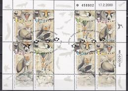 Israel 2000 - Mi.Nr. 1555 - 1558 Kleinbogen - Gestempelt Used - Blocks & Sheetlets