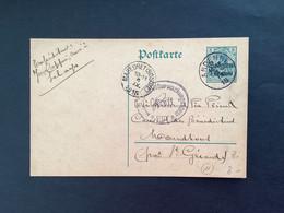 Postkaart Belgien 5 Centimes - ANDENNE - MAREDRET (SOSOYE) Militärische Überwachungsstelle HUY - [OC1/25] Gov. Gen..