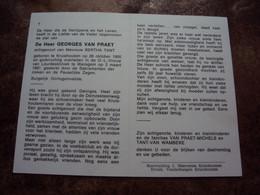 Doodsprentje/Bidprentje  GEORGES VAN PRAET (Echtg BERTHA TANT) Kruishoutem 1905-1987 Waregem Burgelijk Oorlogsinvalide - Religione & Esoterismo