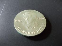 DDR 10 Mark 1972 Gedenkmünze Zum 175 Geburtstag Von Heinrich Heine 1797-1856  (silber) - Otros