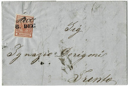 """1854, 3Kr. """" ARCO """" , Kpl. Brief, Tirol  A4832 - Cartas"""
