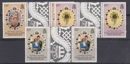 Falkland Islands Dependencies 1981 Royal Wedding 3v Gutter ** Mnh (52020) - South Georgia