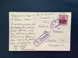 """OC 3 Op Postkaart  - MORESNET (BELGE)  """"Zuruck"""" - [OC1/25] Gov. Gen.."""