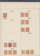 """Albert I / Houyoux / Lion Héraldique - Pages De Collection + Plaquette Préo """"Eeckeren"""" (1913 > 1930) / Cote 130e - Roulettes 1920-29"""