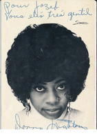 Autographe De Donna Hightower, Chanteuse - Très Bon état - Autógrafos