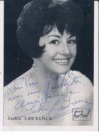 Autographe De Jackie Lawrence, Chanteuse - Très Bon état - Autógrafos