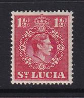 St Lucia: 1938/48   KGVI   SG130    1½d   [Perf: 14½ X 14]      MH - St.Lucia (...-1978)