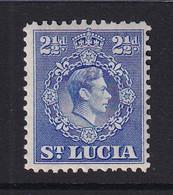 St Lucia: 1938/48   KGVI   SG132a    2½d   Ultramarine  [Perf: 12½]   MH - St.Lucia (...-1978)