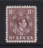 St Lucia: 1938/48   KGVI   SG134c    8d       MH - St.Lucia (...-1978)