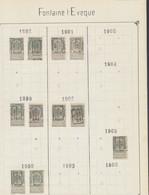 """Fine Barbe / Armoiries - Pages De Collection + Préo """"Fontaine-l'évêque"""" (1898 > 1912) / Cote 150e + - Roulettes 1900-09"""