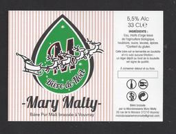 Etiquette De Bière De Noël  -  Brasserie Mary Malty  à  Vouvray  (37) - Beer