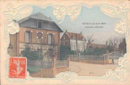 76 - OCTEVILLE SUR MER / ARRIVEE D'ETRETAT - CARTE GAUFREE - Autres Communes