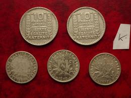 5 Pièces  En Argent - K. 10 Francs