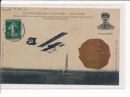 TROUVILLE : Souvenir De La Grande Semaine D'aviation, Nicolas Kinet Sur Biplan Farman - Très Bon état - Trouville