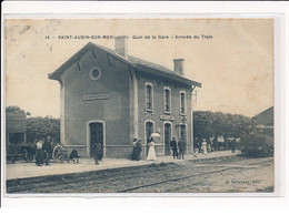 SAINT-AUBIN : Quai De La Gare, Arrivée Du Train - Très Bon état - Saint Aubin