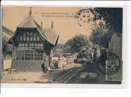 LUC-sur-MER : La Gare Des Chemins De Fer Du Calvados - Très Bon état - Luc Sur Mer