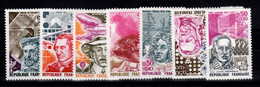 YV 1744 à 1748 + 1768 & 1769 N** Celebrites 1973 - Nuevos