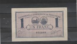 Chambre Commerce TOULOUSE - Billet Un Franc - 12/10/1920 - Série 1 - 071809 - Cámara De Comercio