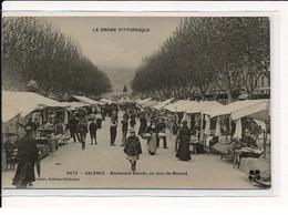 VALENCE : Boulevard Bancel, Un Jour De Marché - Très Bon état - Valence