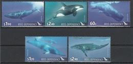 ANTARCTIQUE - ROSS 2010 Cétacés, Baleines - Yv. 125/129 ** - Neufs