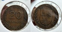 Portugal Mozambique 20 Centavos 1936 Km#64 (G#01-50) - Mozambique