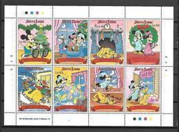 Disney Sierra Leone 1990 Cristmas Sheetlet #1 MNH - Disney