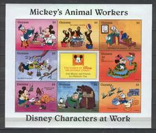 Disney Guyana 1996 Mickey's Animal Workers Sheetlet MNH - Disney