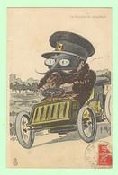 K1036 - Illustration Signée MORICE ?  - Automobile - La Roulotte Du Chauffeur - Circulée En 1909 - Turismo