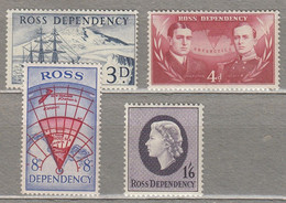 ROSS DEPENDENCY 1957 Definitive Set MH Mi 1-4 CV 15EUR #27840 - Neufs