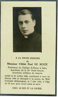 Faire-part AUMONIER Belge 40/45, Arrêté En 42 Et Décapité En 44 à Wolfenbuttel - 1939-45