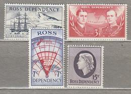 ROSS DEPENDENCY 1967 Definitive Set MH Mi 5-8 CV 56EUR #27841 - Neufs