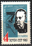 Soviet Union. 1963. 2827. Paton, Scientist Mechanic And Engineer, Bridge. MNH. - Sin Clasificación