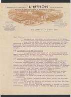 """Belgique - Facture Illustrée (Jumet 1941) : Brasserie & Malterie """"L'union"""" Société Anonyme. - 1900 – 1949"""