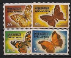 Grenadines - 1982 -  N°Yv. 431 à 434 - Papillons / Butterflies - Neuf Luxe ** / MNH / Postfrisch - Schmetterlinge