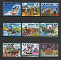 Disney Set Sierra Leone 1987 5th Anniversary Of Tokyo Disneyland MNH - Disney