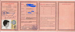 FISCAUX  MONACO 1977 CARTE D'IDENTITE DE RESIDENT PRIVILEGIE 10 Ans SERIE UNIFIEE N°71 5F Bleu Et Jaune - Fiscale Zegels