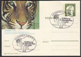 Münster Westf. Eröffnung Allwetter-Zoo 1974 SST Auf Ganzsache   (27825 - Other
