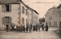 CPA   88   RAMONCHAMP---RUE DE LA GARE---TRES ANIMEE---1915 - Other Municipalities