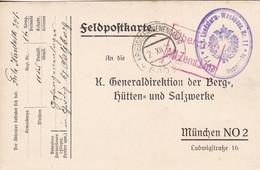Feldpostkarte K.k. Landsturm-Wachbaon. Nr. 11 Nach München - Zensur Linz - 1915 (56197) - Cartas