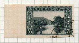 37CRT889 - BOSNIA ERZEGOVINA 1906 , 35 Heller Usato NON DENTELLATO (CRT) - Bosnië En Herzegovina