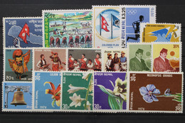 Nepal, MiNr. 327-342, Jahrgang 1976, Postfrisch / MNH - Nepal