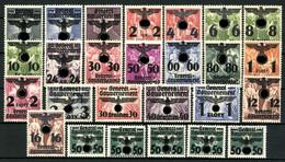 Generalgouvernement, MiNr. 14-39, Falz / Hinge - Besetzungen 1938-45