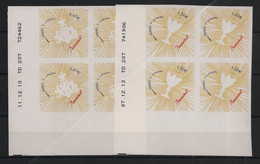 France - 2014 - Adhésif N° Yv. 939 à 940 - Coeur Baccarat - Blocs De 4 Coin Daté - Neuf Luxe ** / MNH / Postfrisch - 2010-....