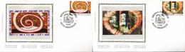 """[67356]N° 2602/03 - FDC - Série Artistique, Alechinsky Et Mara - """"BRUSSEL-1000-BRUXELLES"""", SC, Soie, SNC - 1991-00"""