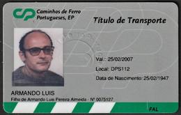 Portugal, PASSE 2007 - CP Caminhos De Ferro Portugueses / EMPLOYÉ DE LA SOCIÉTÉ CP Caminhos De Ferro Portugueses - Europe