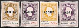 [811168]Portugal 1980 - Açores Et Madeire 1980 - 1ers Timbres Du Portugal, 2 SC , Timbres Sur Timbres - Stamps On Stamps